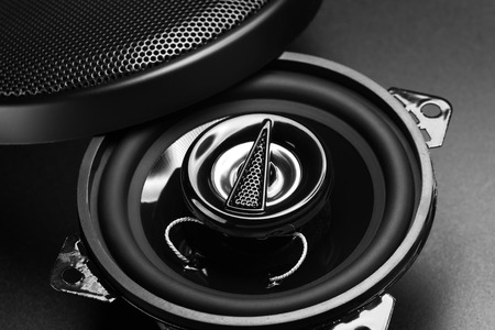 dolby: audio speakers Stock Photo