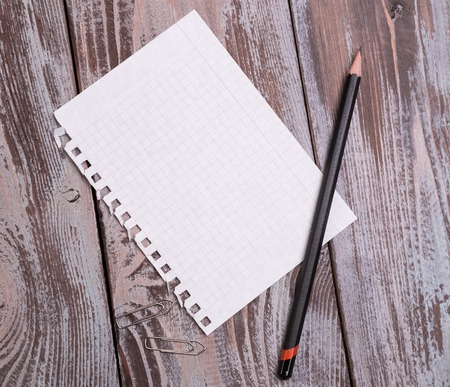 diagonal diary education: sheet torn from a notebook Stock Photo
