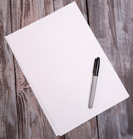 diagonal diary education: sheets of paper Stock Photo