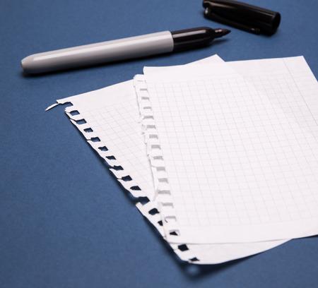 diagonal diary education: black marker and sheets