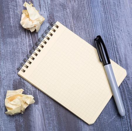 eraser mark: notebook
