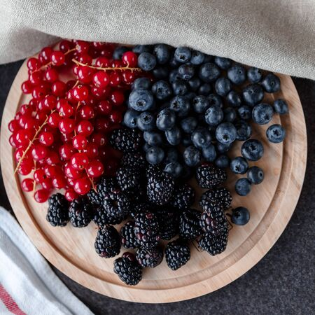 berryes on a desk