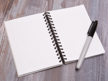 diagonal diary education: blank sheets Stock Photo