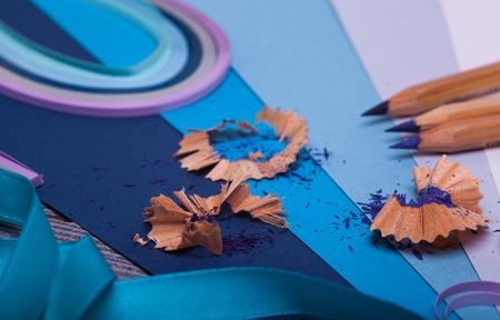 shavings: shavings Stock Photo