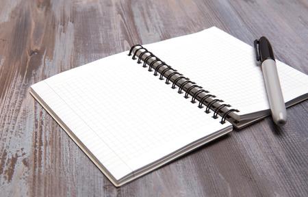 diagonal diary education: blank sheets Stock Photo