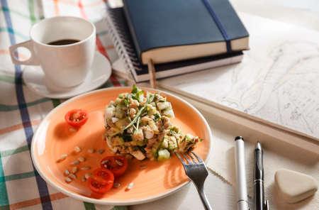 salad for breakfast photo