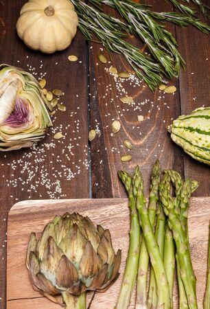 artochoke and aspargus photo
