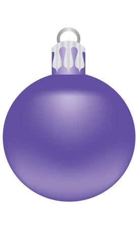 크리스마스 트리를 장식하는 것에 대 한 보라색 공