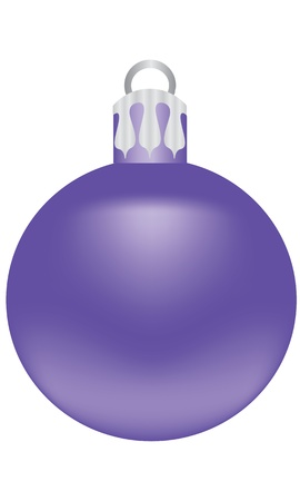 relic: purple ball for decorating a Christmas tree