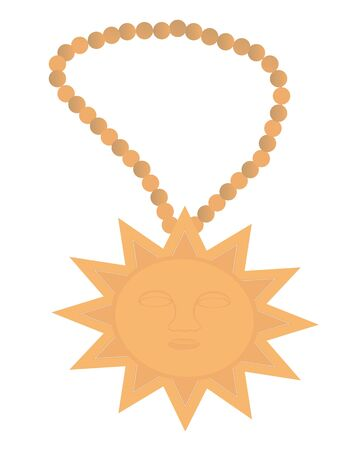 Deity of the clay in the form of sun on the beads    Vector