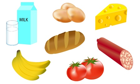 comestible: A variety of foods from which to prepare meals