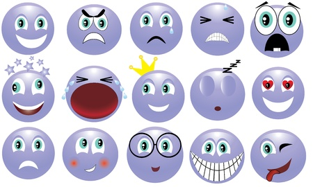 icon depicting the various emotions Stock Vector - 13206804