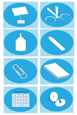 icon depicting the stationery for the office Stock Vector - 13324301
