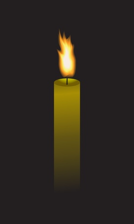 mirk: Long candle that burns in the dark. Illustration