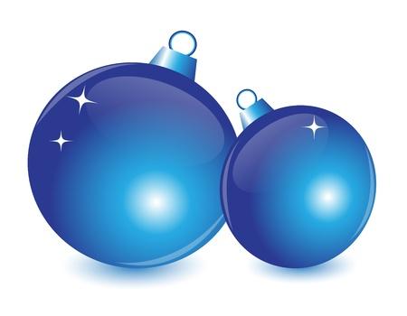 Christmas ball with blue highlights and shadows Stock Vector - 14875589