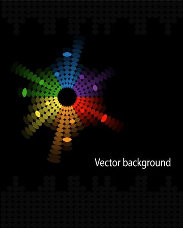 oscillation: abstracto colorido musical ecualizador de volumen en fondo negro Vectores