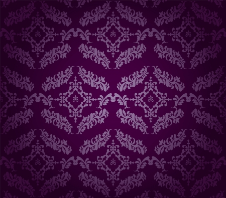 reminiscent: purple vintage seamless background with a pattern reminiscent of wallpaper