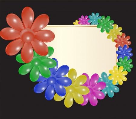 entwine: targa di congratulazioni che intrecciano brillanti fiori stilizzati