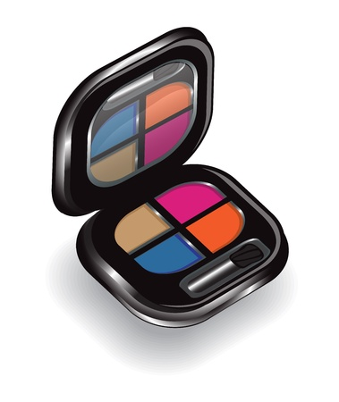 paint box: open box shadow in four colors with a mirror