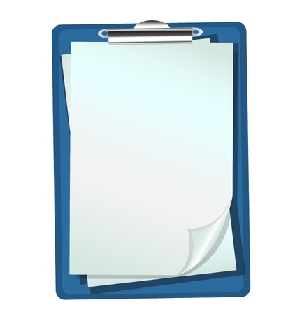 blue folder with clip and paper sheets Stock Vector - 16969219