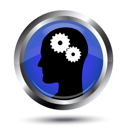 concentration gear:   Thought process  Icon with a silhouette of the head and gears