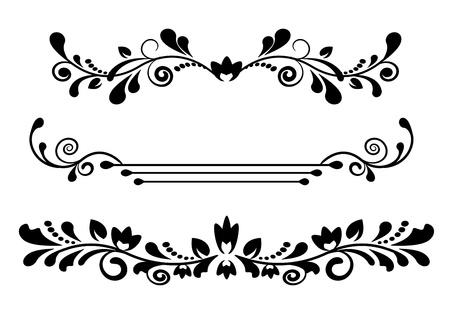 vintage schwarz gemustert Teilern und grenzt an einen weißen Hintergrund Illustration