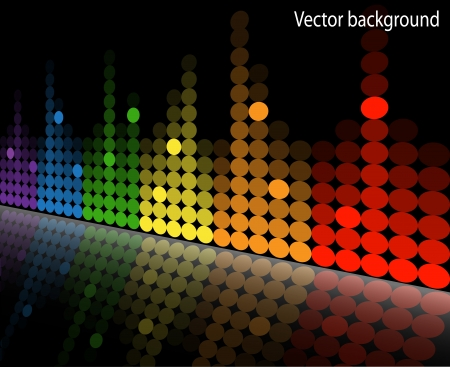 multicolored equalizer with reflection beneath the slope Stock Vector - 17972256