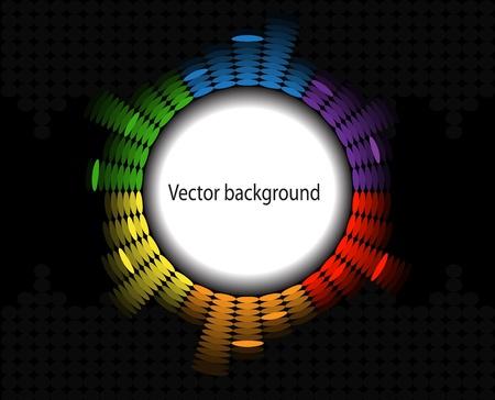 round brilliant: marco en forma de un ecualizador brillante redondo sobre fondo negro