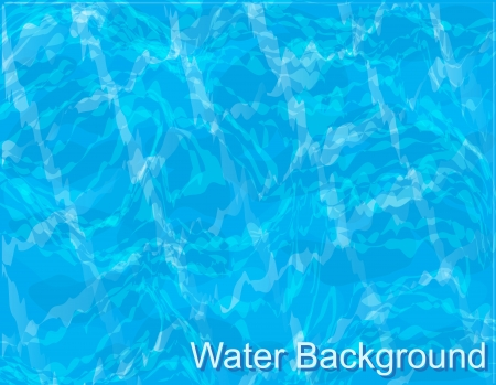 swimming underwater: background-blue water with ripples in the pool Illustration