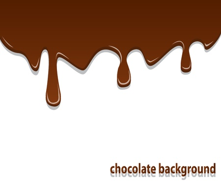 background with shiny streaks of chocolate cream on top Vector