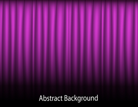 curtain design: purple abstract background with folded textile curtains Illustration