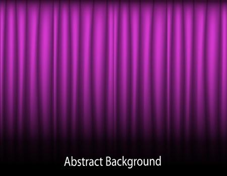 sipario chiuso: viola sfondo astratto con le tende tessili piegato