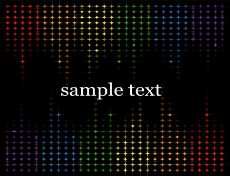 abstract black background with rows of multicolored stars Stock Vector - 21923226