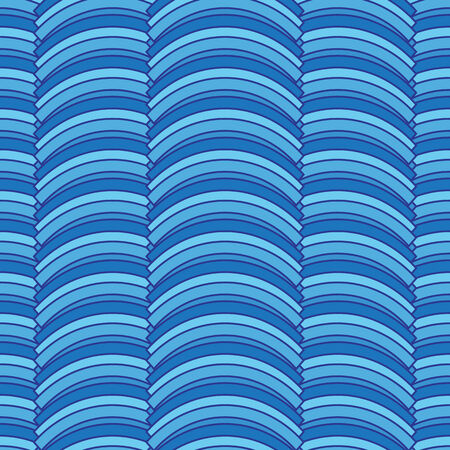 arcs: seamless abstract pattern with striped blue arcs