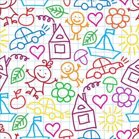 seamless pattern of colorful children\\\\\\\\ Vector