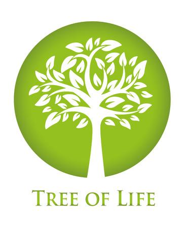 sembrando un arbol: icono verde redondo con una silueta de un árbol