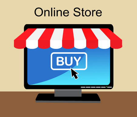 alfa: Monitor the store awning and sign online shop