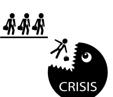 モンスターの危機の顎に秋の簡単な概略起業家