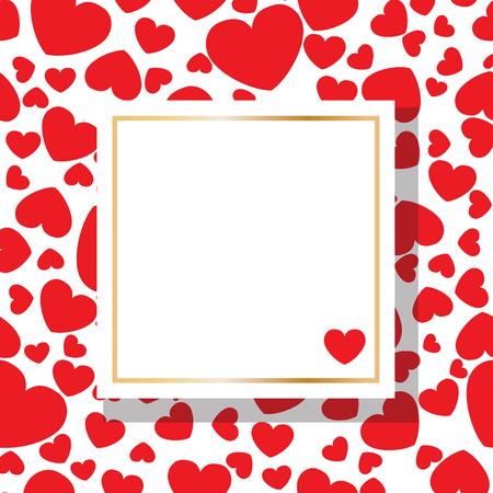 Valentine's Day square Banco de Imagens - 125651721