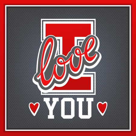 love you: Lettering I Love You athletic style