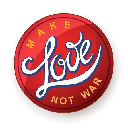 60s hippie: Lettering  Make Love Not War