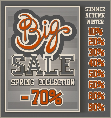 Vintage Big Sale collection with handwritten header Vector
