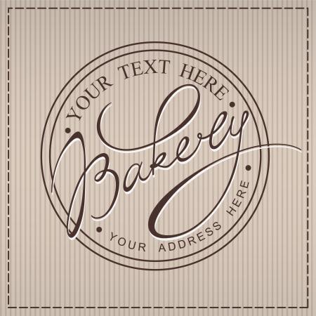 Bakery handwritten calligraphic label  イラスト・ベクター素材