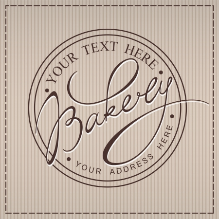 Bakery handwritten calligraphic label Vector