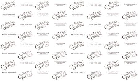 Natural Cosmetic Calligraphic handwritten seamless patern Vector