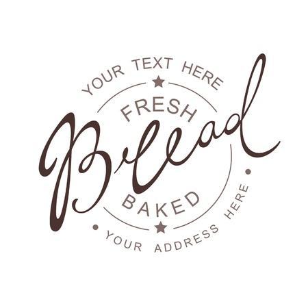 bread: Bread Calligraphic handwritten seamless patern Illustration