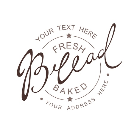 Bread Calligraphic handwritten seamless patern Vettoriali