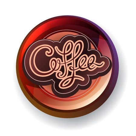 barista: Coffee handwritten calligraphic modern label