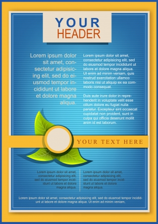 Bright flayer or cover template blue