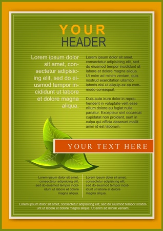 flayer: Bright flayer or cover template green